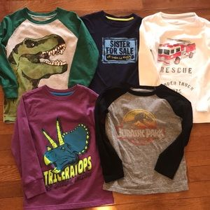 Boy Bundle Of 5 Long Sleeved Shirts Size 5-5T